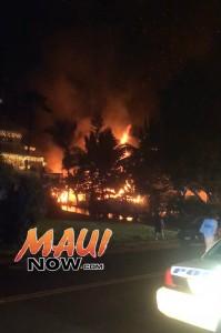Kauhale Street house fire. Courtesy photo.