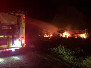 Keʻanae structure fire, Dec. 15, 2015. Photo credit: Jeff Zuckernick