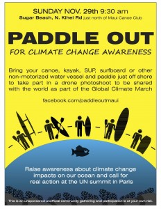 Paddle Out Flyer