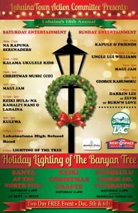 Banyan lighting 2015, event flyer.