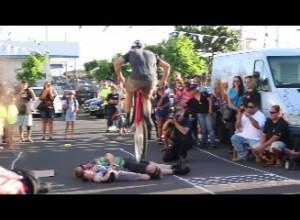 Bike tricks. Photo by Wendy Osher.