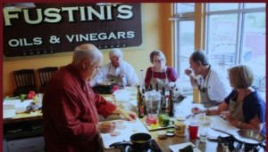 Customers at Fustini's Oils and Vinegars at The Shops at Wailea. Courtesy photo.