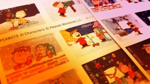 Forever Stamps, 2015 holiday sheets. Photo by Wendy Osher.