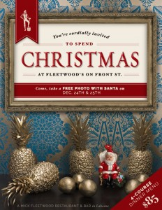 Fleetwood's Christmas Day menu flyer.  Courtesy image.