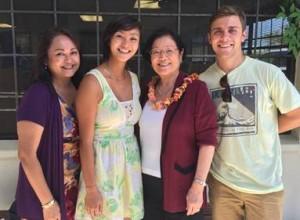 Senator Hirono meets a Maui family