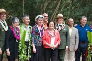 Senator Hirono attended the dedication of the Honouliuli National Monument. Courtesy photo.