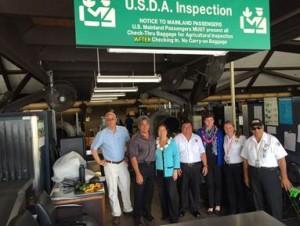 Senator Hirono tours the Animal and Plant Health Inspection Service at the Kona International Airport. Courtesy photo.