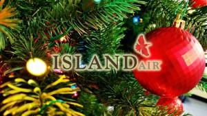 Background image: Maui Now. Island Air logo, courtesy image.