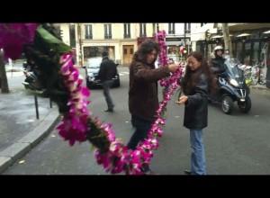 Lei for Paris. Photo credit: Timothy Lara.