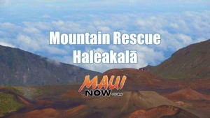 Mountain rescue: Haleakalā. Background image credit: Wendy Osher.