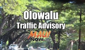 Olowalu Traffic Advisory. Maui Now graphic.