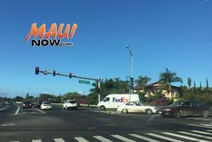 Piʻilani Highway traffic accident at Ohukai Road, Dec. 21, 2015. Courtesy photo.