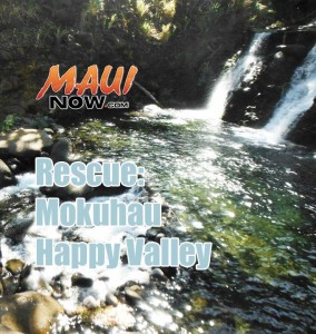 Rescue at Mokuhau. Maui Now image.