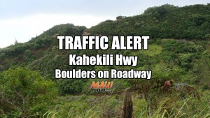 Traffic Alert: Kahekili Hwy