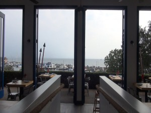 View of Māʻalaea Harbor from Oceanside restaurant. Photo by Kiaora Bohlool.