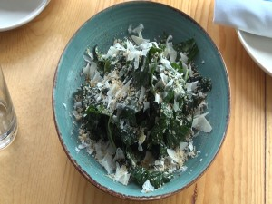 Kumu Farms kale Caesar salad. Photo by Kiaora Bohlool.