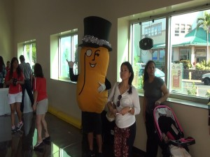 Mr. Peanut greets customers at Island Grocery Depot in Lahaina. Photo by Kiaora Bohlool.