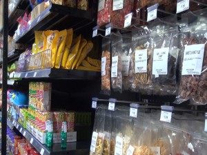 Local snacks for sale at Island Grocery Depot in Lahaina. Photo by Kiaora Bohlool.