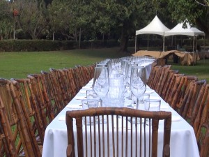 Long table set for Outstanding in the Field dinner. Photo by Kiaora Bohlool.