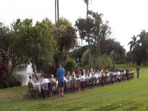 The long table is filled at Maui Tropical Plantation. Photo by Kiaora Bohlool.