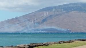 Fire in Māʻalaea, Jan. 21, 2016. Photo credit: Melinda Harrigan Fasel