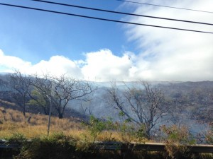 Fire in Māʻalaea, Jan. 21, 2016. Photo credit: Rommel Tejero