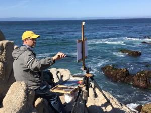 John Lasater painting en plein air.Courtesy photo.