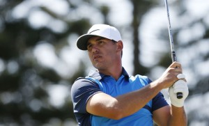 PGA golfer Brooks Koepka tees off on the third hole during the final round of the Hyundai Tournament of Champions golf tournament at The Plantation Course. on Sunday. Photo by Brian Spurlock of USA TODAY Sports.