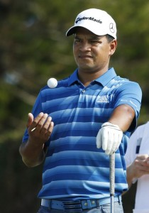 PGA golfer Fabian Gomez waits to tee off on the first hole during the second round of the Hyundai Tournament of Champions golf tournament at The Plantation Course. On Friday. Photo by Brian Spurlock USA TODAY Sports.