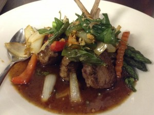 Lamb chops in Thai peppercorn sauce. Courtesy photo.