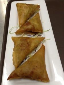 Turmeric Potato in Rice Paper, Maui Thai Bistro chef's twist on the Indian Samosa. Courtesy photo.