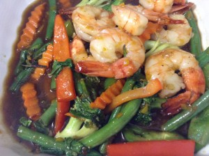 Shrimp with Thai Basil Sauce at Maui Thai Bistro. Courtesy photo.
