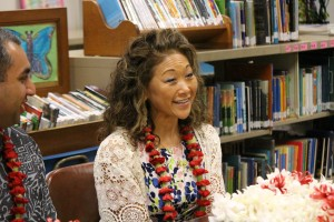 Joyce Masamitsu, Verizon Foundation. Pukalani Elementary School today received a $20,000 Verizon Innovative Learning grant. Photo, Jan. 21, 2016 by Wendy Osher.