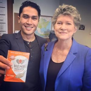 Representatives Kaniela Ing and Cynthia Thielen join forces to introduce industrial hemp legislation. Photo Courtesy of House Majority Communications