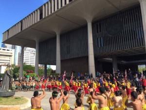 Kuʻi at the Capitol 2016. Photo credit: Timothy Lara.
