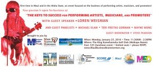 MBB-MNHCoC-Special-Event-The-Keys-to-Success-for-Performing-Artists-Musicians-Promoters-Jan-25-2016-Maui