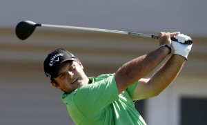 PGA golfer Patrick Reed tees off on the second hole during the first round of the Hyundai Tournament of Champions golf tournament at Kapalua Resort on Thursday at The Plantation Course. Photo by Brian Spurlock of USA TODAY Sports.