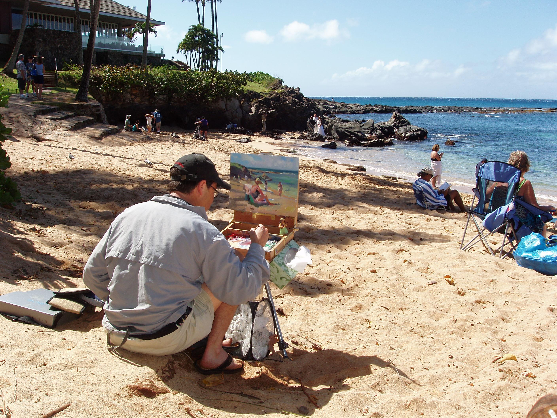 Maui Plein Air Painting Invitational photo.