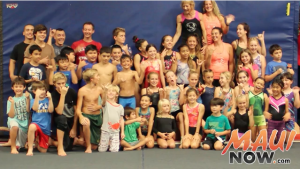 Diane's Gymnastics Academy students pose for a photo for Maui Now