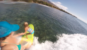 Surfer Girl tandems with professional big wave surfer, Paige Alms