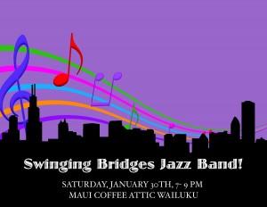 Swinging Bridges Jazz Band, courtesy image.