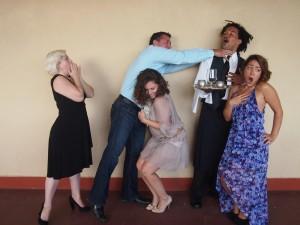 """Les Lapins Timides"" stars (left to right) Marsi Smith, Jamie Nicole Wilcox, Jim Oxborrow, Rueben CarrionandPatty Sylva. Maui Fringe Festival photo."