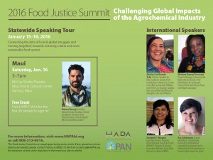 Challenging Global Impacts of the Agrochemical Industry updated 1.8.2016  2016 Food Justice Summit
