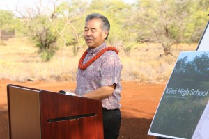 gov ige at kihei high school groundbreaking