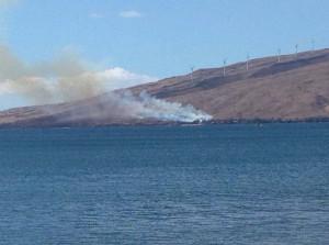 Fire in Māʻalaea, Jan. 21, 2016. Photo credit: Mitch Palmer