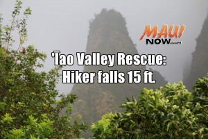ʻĪao Valley rescue. Maui Now graphic; background image credit: DLNR.