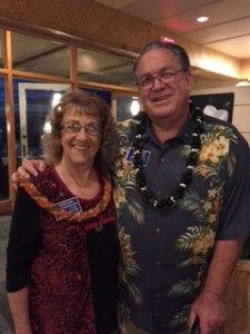 Joanne and Larry Laird, newest members of the Lahaina Sunset Rotary Club. Courtesy photo.