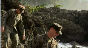 Marines with Echo Company, 2nd Battalion, 3rd Marine Regiment, search for debris and assist in search and rescue efforts of two CH-53E Super Stallion helicopters, which were involved in an incident off of the North Shore of Oahu, Hawaii. January 17, 2016. The aircraft are from Marine Heavy Helicopter Squadron 463, MAG 24, 1st MAW from Marine Corps Base Hawaii. (U.S. Marine Corps video by Lance Cpl. René Lucerobonilla/ Released)