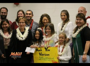 Pukalani Elementary School today received a $20,000 Verizon Innovative Learning grant. Photo, Jan. 21, 2016 by Wendy Osher.