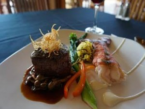 Duet of filet mignon and Maine lobster from Valentine's Day prix-fixe menu at Sheraton Resort Maui. Courtesy photo.